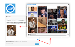 wpForo Tenor GIFs Integration inserting gif in post