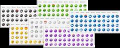 wpForo Emoticons 6 Colors 1000