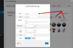 wpForo Emoticons Manage Groups Details