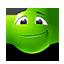 {green}:face: